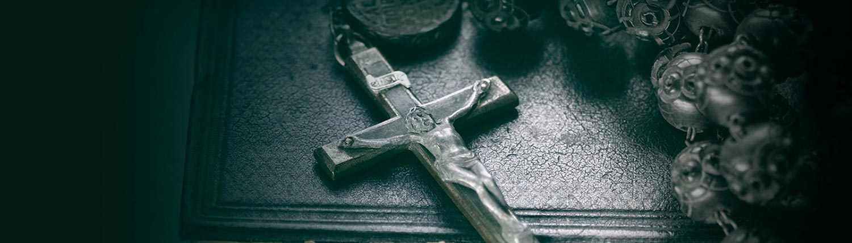 Krzyż i różaniec